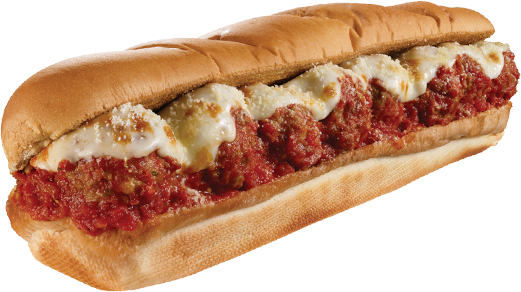 Keeping it new! We have Aj's Famous meatball sandwich for lunch ...